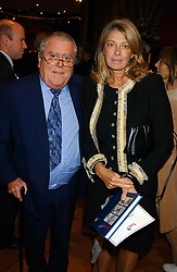 MR & MRS ALBERT ROUX, he is the leading chef at a private view and auction of a collection of paintings, drawings and doodles by well known personalities to mark the Book launch of Ackroyd's Ark in Christie's, 8 King Street, St.James's, London on 20th September 2004 in aid of Tusk Trust.<br /><br />NON EXCLUSIVE - WORLD RIGHTS