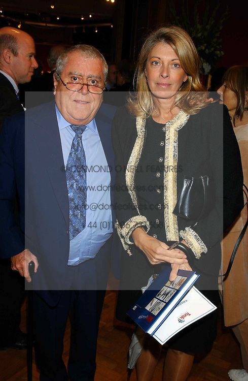 MR &amp; MRS ALBERT ROUX, he is the leading chef at a private view and auction of a collection of paintings, drawings and doodles by well known personalities to mark the Book launch of Ackroyd's Ark in Christie's, 8 King Street, St.James's, London on 20th September 2004 in aid of Tusk Trust.<br /><br />NON EXCLUSIVE - WORLD RIGHTS