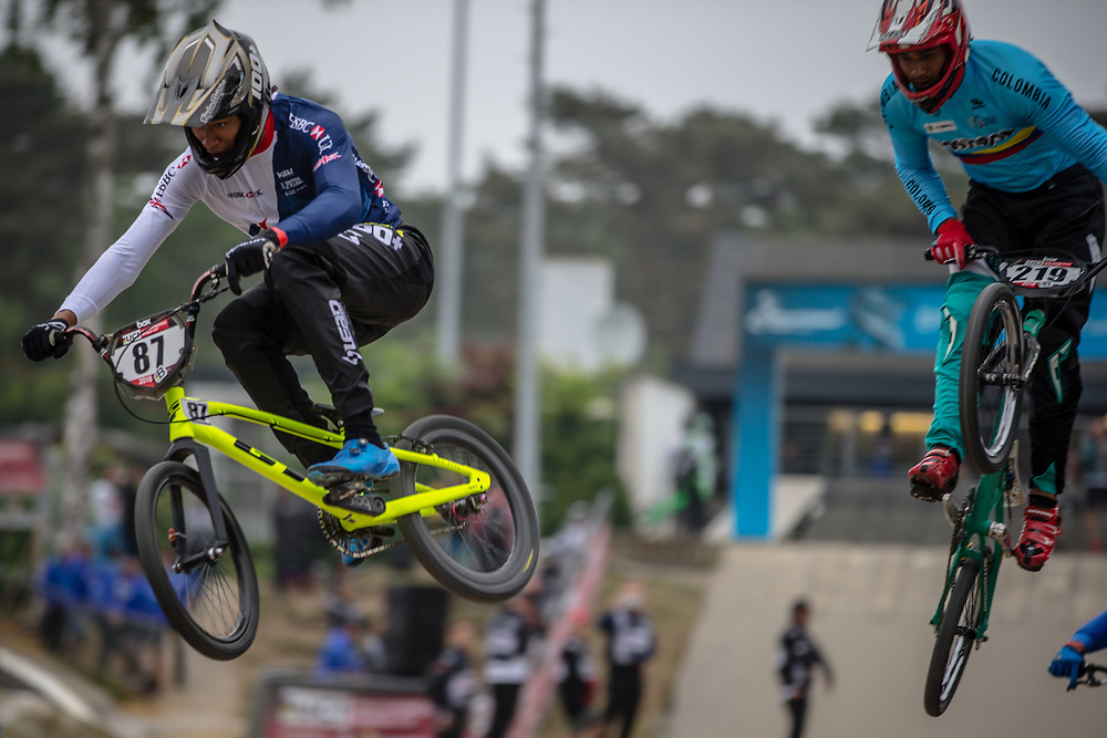 #87 (WHYTE Kye) GBR at Round 6 of the 2018 UCI BMX Superscross World Cup in Zolder, Belgium