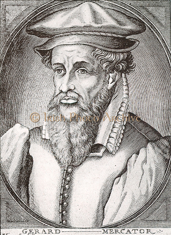 Gerardus Mercator (1512-1594) was a cartographer, born in Rupelmonde in the Hapsburg County of Flanders, part of the Holy Roman Empire. He was educated in Hertogenbosch by the famous humanist Macropedius at the University of Leuven.  He is remembered for the Mercator projection world map, which is named after him.  This proved very useful to many later navigators who could (using this map) sail across the entire ocean on a straight path (called a rhumb line). Despite Mercator's fame as a cartographer, his main source of income came through his craftsmanship of mathematical instruments.  He died in Duisburg.