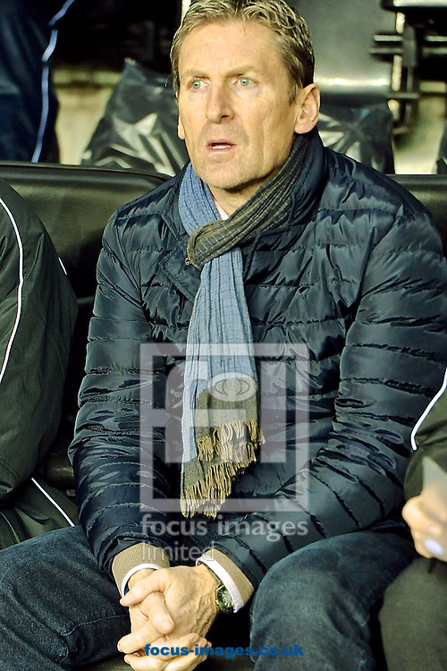 Picture by Ian Wadkins/Focus Images Ltd +44 7877 568959<br /> 28/11/2013<br /> Zulte Waregem manager Francky Dury ahead of the UEFA Europa League match at the DW Stadium, Wigan.