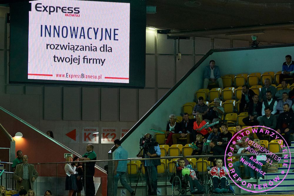 Advertise display during Davis Cup Tie World Group Play-off Poland v Slovakia at Gdynia Arena Hall in Gdynia, Poland.<br /> <br /> Poland, Gdynia, September 20, 2015<br /> <br /> Picture also available in RAW (NEF) or TIFF format on special request.<br /> <br /> For editorial use only. Any commercial or promotional use requires permission.<br /> <br /> Adam Nurkiewicz declares that he has no rights to the image of people at the photographs of his authorship.<br /> <br /> Mandatory credit:<br /> Photo by &copy; Adam Nurkiewicz / Mediasport