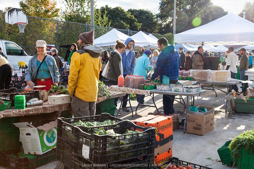 Dufferin Grove Farmers market in late October