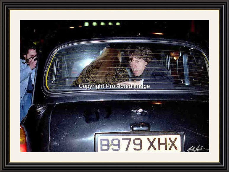"""MICK JAGGER TAXI Jermyn St Mayfair London 93 A2 & 40x30"""" Museum-quality Archival signed Framed Print (Limited Edition)"""