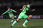 Forest Green Rovers George Williams(11) takes a free kick during the EFL Sky Bet League 2 match between Forest Green Rovers and Grimsby Town FC at the New Lawn, Forest Green, United Kingdom on 22 January 2019.