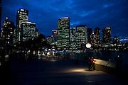Sydney travel sites series. Early evening on the Sydney Circular Quay skyline.