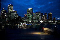 Sydney travel sites series. Early evening on the Sydney Circular Quay skyline.