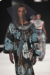 """© Licensed to London News Pictures. 02/06/2015. London, UK. Collection by Zoe Childs, UCA Rochester. Runway show """"Best of Graduate Fashion Week 2015"""". Graduate Fashion Week takes place from 30 May to 2 June 2015 at the Old Truman Brewery, Brick Lane. Photo credit : Bettina Strenske/LNP"""