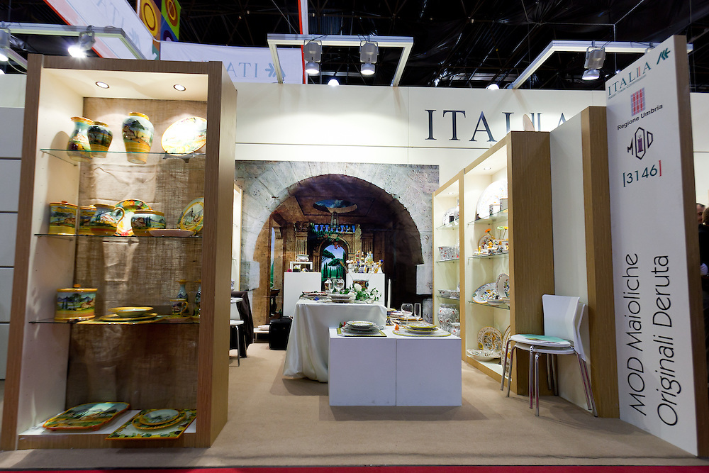 Italian Trade Commision and Regione Umbria Exhibit at the New York International Gift Fair at Javits Center in New York City on January 30 thru February 3, 2011.