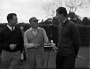 20/07/1962<br /> 07/20/1962<br /> 20 July 1962<br /> Woodbrook Irish Hospitals' Golf Tournament at Woodbrook Golf Course, Dublin. (l-r) B.H. Allen (Denton); W.D. Smithers, (Long Ashton) and G.I. Murdock (Royal Co. Down).