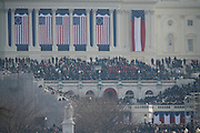 The U.S. Capitol before the inauguration of Barack Obama.