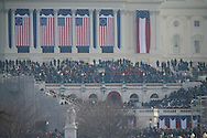 The U.S. Capitol before the inauguration of Barack Obama.