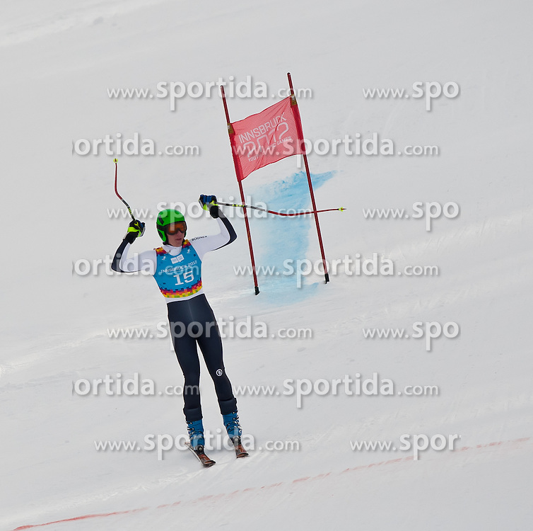 """14.01.2012, Patscherkofel, Innsbruck, AUT, Olympische Jugend Winterspiele, Ski Alpin, Super G, Herren, im Bild Nikolaus Ertl (GER)  // Nikolaus Ertl (GER) during the Mens Super G of the Winter Youth Olympic Games at the """"Patscherkofel"""", Innsbruck, Austria on 2012/01/14, EXPA Pictures © 2012, PhotoCredit: EXPA/ Juergen Feichter"""
