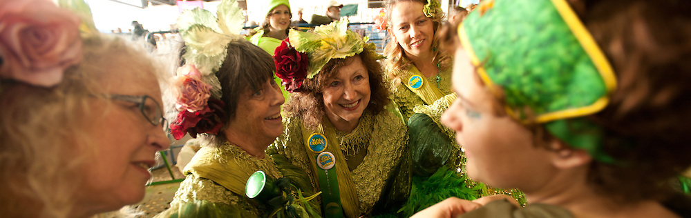 The cabbage fairies at the Alaska State Fair giant cabbage weigh-off.