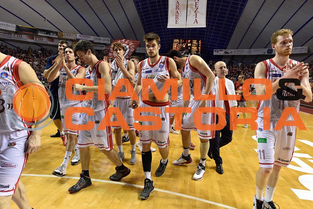 DESCRIZIONE : Venezia Lega A 2014-15 Umana Venezia-Grissin Bon Reggio Emilia  playoff Semifinale gara 5<br /> GIOCATORE :Silins Ojars<br /> CATEGORIA : Delusione<br /> SQUADRA : GrissinBon Reggio Emilia<br /> EVENTO : LegaBasket Serie A Beko 2014/2015<br /> GARA : Umana Venezia-Grissin Bon Reggio Emilia playoff Semifinale gara 5<br /> DATA : 07/06/2015 <br /> SPORT : Pallacanestro <br /> AUTORE : Agenzia Ciamillo-Castoria /GiulioCiamillo<br /> Galleria : Lega Basket A 2014-2015 Fotonotizia : Reggio Emilia Lega A 2014-15 Umana Venezia-Grissin Bon Reggio Emilia playoff Semifinale gara 5<br /> Predefinita :