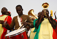 Photo: Steve Bond/Richard Lane Photography.<br />Ivory Coast v Mali. Africa Cup of Nations. 29/01/2008. The Mali band before the game