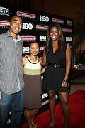 l to r: Marvin Scott, Gabrielle Glore  and Kenya Moore  at ' Shooting Stars' Premiere during The 13th Annual UrbanWorld Film Festival sponsored by BET Networks held at AMC 34th Street on September 25, 2009 in New York City