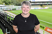 Mandy Woodward during the EFL Sky Bet League 2 match between Forest Green Rovers and Crawley Town at the New Lawn, Forest Green, United Kingdom on 22 September 2018.
