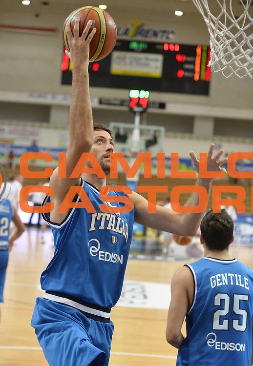 DESCRIZIONE : Trentino Basket Cup Italia-Polonia<br /> GIOCATORE : Angelo Gigli<br /> CATEGORIA : riscaldamento<br /> SQUADRA : Nazionale Italiana<br /> EVENTO : Trentino Basket Cup<br /> GARA : Italia-Polonia<br /> DATA : 09/08/2013<br /> SPORT : Pallacanestro <br /> AUTORE : Agenzia Ciamillo-Castoria/R. Morgano<br /> Galleria : FIP nazionali 2013  <br /> Fotonotizia : Trentino basket cup Italia-Polonia<br /> Predefinita :