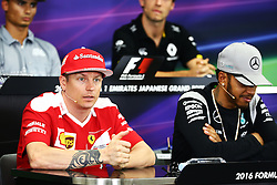 Kimi Raikkonen (FIN) Ferrari in the FIA Press Conference.<br /> <br />  beim GP von Japan 2016 in Suzuka / 061016<br /> <br /> ***Formula One Grand Prix of Japan on October 6, 2016 in Suzuka.***