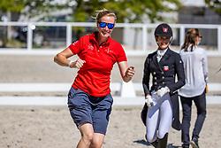 SAYN-WITTGENSTEIN Nathalie zu (Nationaltrainer DEN)<br /> Impression am Rande<br /> U25 FEI Grand Prix Freestyle/Kür<br /> Pilisjászfalu - FEI Youth Dressage EUROPEAN CHAMPIONSHIPS 2020<br /> 21. August 2020<br /> © www.sportfotos-lafrentz.de/Stefan Lafrentz
