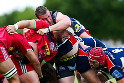 Jack O'Connell of Bristol Rugby and Phil Swainston of Harlequins compete - Rogan/JMP - 05/08/2017 - RUGBY UNION - Cleve RFC - Bristol, England - Bristol Rugby v Harlequins - Pre-Season Friendly.