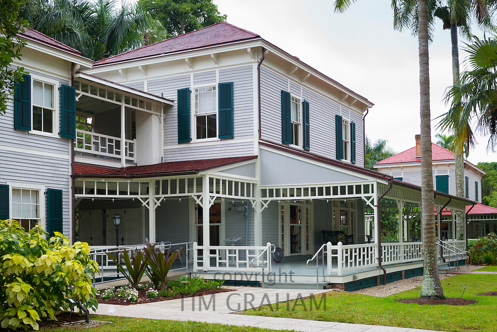 Winter estate home, Seminole Lodge, of magnate Thomas Edison at Fort Myers, Florida, USA