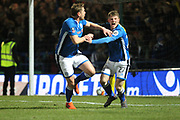 GOAL Steven Davies celebrates scoring the equaliser 2-2   during the The FA Cup match between Rochdale and Tottenham Hotspur at Spotland, Rochdale, England on 18 February 2018. Picture by Daniel Youngs.