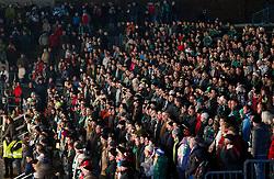 08.01.2012, Stadium Bezigrad, Ljubljana, SLO, EBEL, HDD Telemach Olimpija Ljubljana vs KAC Klagenfurt 40. Runde, in picture fans of HDD Olimpija during the Erste Bank Ice Hockey League in 40th Round match between HDD Telemach Olimpija Ljubljana and KAC Klagenfurt at the open ice winter classic Stadium Bezigrad, Ljubljana, Slovenia on 2013/01/08. (Photo By Vid Ponikvar / Sportida.com)