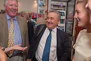 JOHN MCENTEE; PETER MCKAY; FLORENCE UNIAKE; , Elliott and Thompson host a book launch of How the Queen can Make you Happy by Mary Killen.- Book launch. The O' Shea Gallery. St. James's St. London. 20 June 2012.