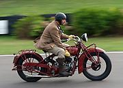 Man riding a vintage motobike, 2009