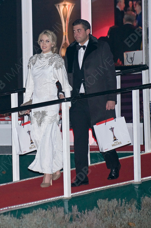19.DECEMBER.2011. LONDON<br /> <br /> LYDIA ROSE BRIGHT AND JAMES ARGENT AT THE SUN MILITARY AWARDS 2011 AT THE IMPERIAL WAR MUSEUM IN LONDON<br /> <br /> BYLINE: EDBIMAGEARCHIVE.COM<br /> <br /> *THIS IMAGE IS STRICTLY FOR UK NEWSPAPERS AND MAGAZINES ONLY*<br /> *FOR WORLD WIDE SALES AND WEB USE PLEASE CONTACT EDBIMAGEARCHIVE - 0208 954 5968*