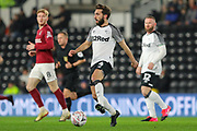Derby County defender Graeme Shinnie during the The FA Cup match between Derby County and Northampton Town at the Pride Park, Derby, England on 4 February 2020.