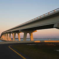 Sanibel bridge at sunset, Florida, USA