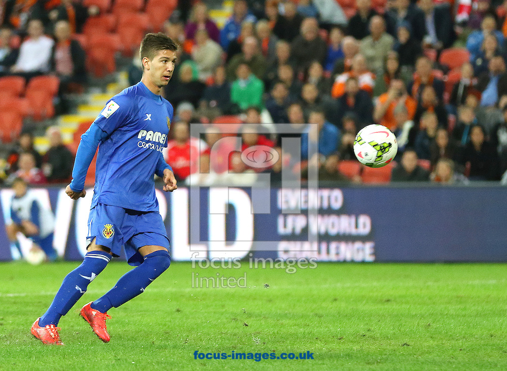 Luciano Vietto of Villarreal CF misses a penalty during the friendly match at Suncorp Stadium, Brisbane<br /> Picture by Steven Gibson/Focus Images Ltd +61 413 768835<br /> 03/06/2015