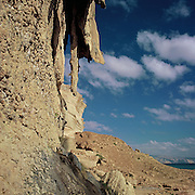 Stalactites on cliff in coastal Dhofar