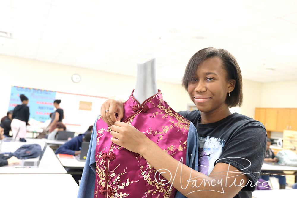 CTE - Fashion Merchandising and Fashion Design classes at North Mecklenburg High School Apparel Production II class at North Mecklenburg High School
