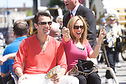 Fabian Sanchez and Marlee Matlin of Dancing with the Stars seen in the IPL 500 Festival Parade in Indianapolis. Photo by Michael Hickey