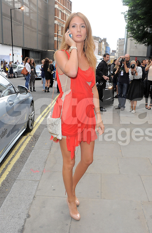 Mad In Chelsea star Millie Mackintosh attends the Julien Macdonald SS 2015 catwalk show during London Fashion Week Spring Summer 2015 in London, UK. 13/09/2014 <br />