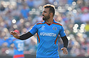 Dawlat Zadran of Afghanistan during the ICC Cricket World Cup 2019 match between Afghanistan and Australia at the Bristol County Ground, Bristol, United Kingdom on 1 June 2019.