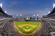 CHICAGO - SEPTEMBER 12:  (EDITORS NOTE: This image has been digitally enhanced for aesthetic purposes).  A general view of U.S. Cellular Field as the Chicago White Sox play the Detroit Tigers on September 12, 2011 at U.S. Cellular Field in Chicago, Illinois.  (Photo by Ron Vesely)