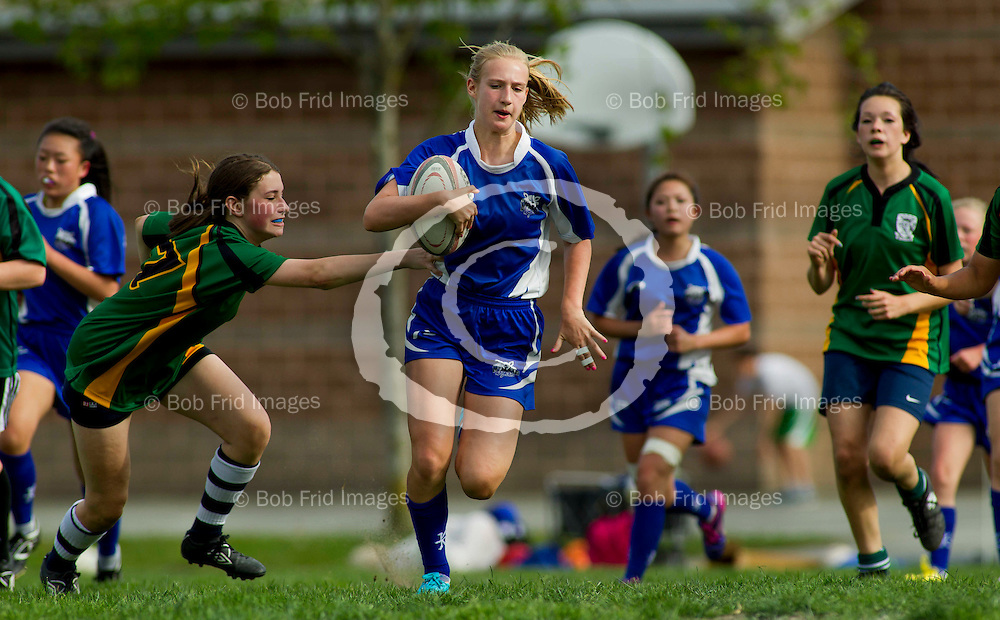 May 12, 2014 - McMath Girls Rugby  ****(Photo by Bob Frid 2013) All Rights Reserved : cell 778-834-2455 : email: bob.frid@shaw.ca Web: bob-frid-images.photoshelter.com ****
