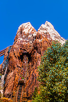 Expedition Everest-Legind of the Forbidden Mountain (rollercoaster ride), Disney's Animal Kingdom, Walt Disney World, Orlando, Florida USA