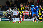 Burton Albion forward Mark Duffy on the attack during the The FA Cup match between Burton Albion and Peterborough United at the Pirelli Stadium, Burton upon Trent, England on 7 November 2015. Photo by Aaron Lupton.