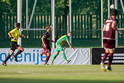 Fink Gregor of Zavrc during football match between NK Triglav Kranj and Zavrc, 3nd Round of Prva Liga, on 28 July, 2013, in Sportni center, Kranj, Slovenia. (Photo by Grega Valancic / Sportida)