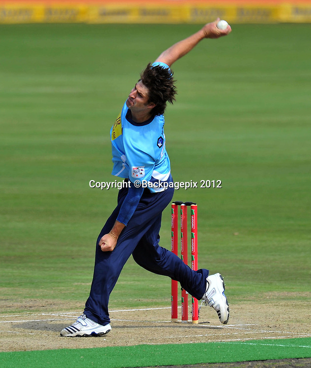 Colin de Grandhomme of Auckland Aces during the 2012 Champions League Twenty20 cricket match between the Perth Scorchers and the Auckland Aces at Supersport Park in Centurion, South Africa on 23 October 2012 ©Chris Ricco/BackpagePix