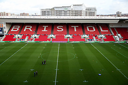 General View before the match - Rogan Thomson/JMP - 11/12/2016 - RUGBY UNION - Ashton Gate Stadium - Bristol, England - Bristol Rugby v Pau - European Rugby Challenge Cup.