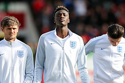 Tammy Abraham of England U21 lines up before kick off - Rogan Thomson/JMP - 11/10/2016 - FOOTBALL - Bescot Stadium - Walsall, England - England U21 v Bosnia and Herzegovina - UEFA European Under 21 Championship Qualifying.