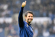 A thumbs up and a smile from Huddersfield Town manager Danny Cowley during the EFL Sky Bet Championship match between West Bromwich Albion and Huddersfield Town at The Hawthorns, West Bromwich, England on 22 September 2019.