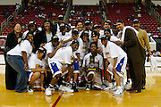 Coppin State women win the 2006 MEAC Basketball Tournament at the RBC Center in Raleigh, North Carolina.  March 11, 2006  (Photo by Mark W. Sutton)